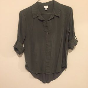 NWOT Forest Green collared shirt